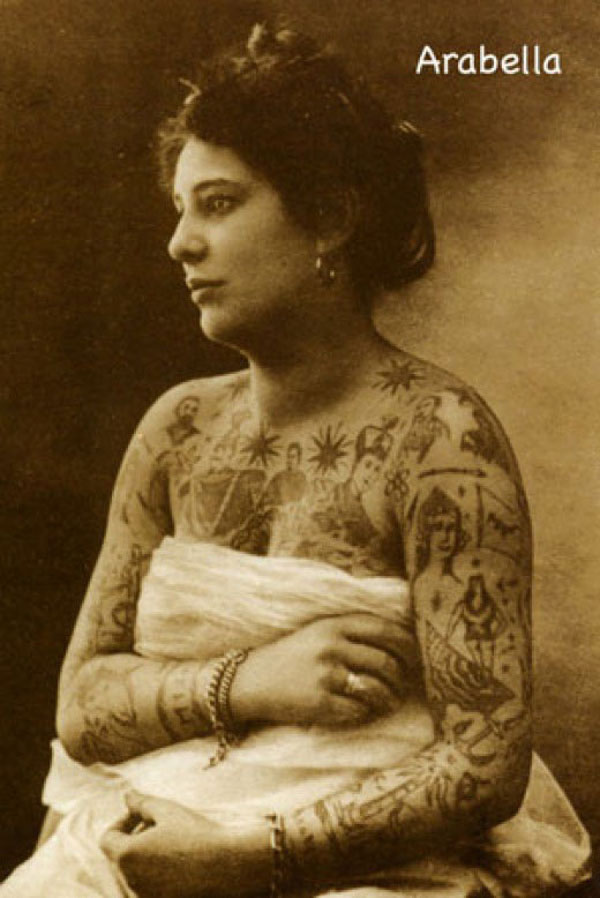 Vintage photos of tattooed women john dapper - Mobeltattoo vintage ...